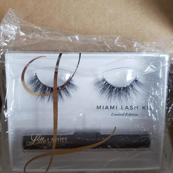 93987295cbe Lilly Lashes Makeup | Miami Lash And Glue Kit Brand New | Poshmark